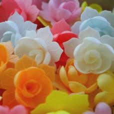 Вафельные цветы - Нарциссы махровые, Микс, 10шт. (10/8712)