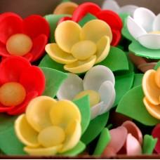 Вафельные цветы - Кувшинки, Микс, 10шт. (10/8835)