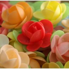 Вафельные цветы - Пионы 11 лепестков, Микс, 10шт. (10/13136)