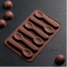 Силиконовая форма для конфет - Ложечки (1007478)
