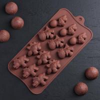 Силиконовая форма для конфет - Дино (1057114)