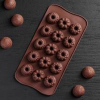 Силиконовая форма для конфет - Кексики (1158541)