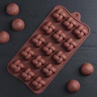 Силиконовая форма для конфет - Плетенка (2570385)