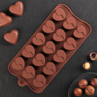 Силиконовая форма для конфет - Сердце (2854626)