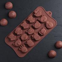 Силиконовая форма для конфет - Животные (2854838)