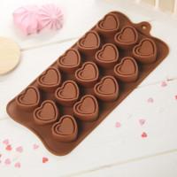 Силиконовая форма для конфет - Сладкое сердце (2854843)