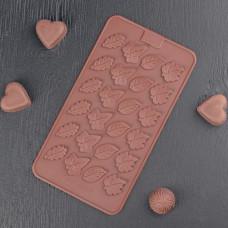 Силиконовая форма для конфет - Листочки (2854848)