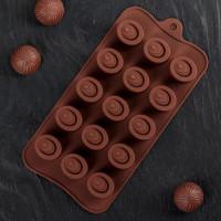 Силиконовая форма для конфет - Шоколадное удовольствие (3628354)