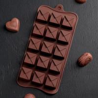 Силиконовая форма для конфет - Конверт (4293911)