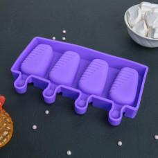 """Форма для леденцов и мороженого """"Эскимо"""", 4 яч. (4472187)"""
