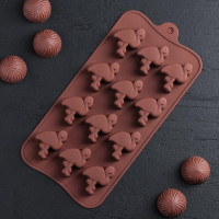 Силиконовая форма для конфет - Фламинго (4587802)