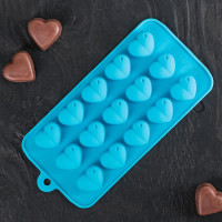 Силиконовая форма для конфет - Сердечки (549347)