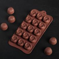Силиконовая форма для конфет - Завиток (762772)