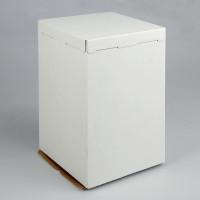 Упаковка для торта   - Белая, 30*30*h45см. (SP 30*30*45)