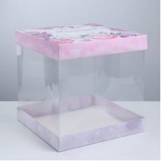 Упаковка для торта «Моменты счастья», 30 × 30 см (3929581)