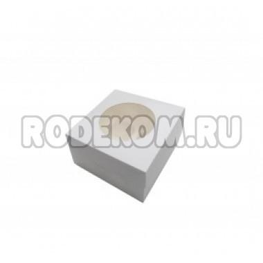 Упаковка с окном на 1капкейк - Белая, 10*10*h10см. (SP CUP1)