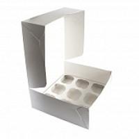 Упаковка на 9 капкейков - Белая, 25*25*h10см. (SP CUP9)