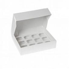 Упаковка на 12 капкейков - Белая, 25*33*h10см. (SP CUP12)