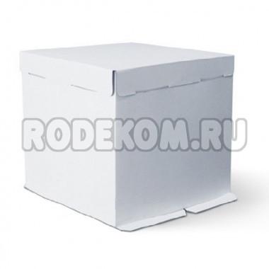 Упаковка для торта с окном  - Белая, 30*30*h19см. (SP 30*30*19)