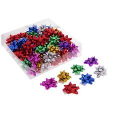 Бант-звезда №4,3 металлик, цвета ассорти  (817200)
