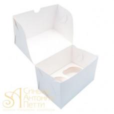 Упаковка на 2 капкейка - Белая, 10*16*h10см. (SP CUP2)