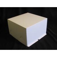 Упаковка для торта - Белая, 30*30*h19см. (SP 30*30*19)