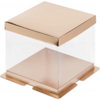 Коробка для торта Золото, 23*23*h22см.