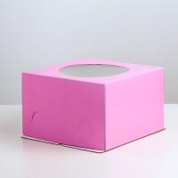 Упаковка для торта   - Сиреневая, 30*30*h19см.