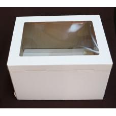Упаковка для торта с окном  - Белая, 30*40*26см. (SP 30*40*26)