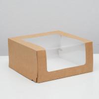 Коробка для торта Мусс, 235*235*115мм., Крафт