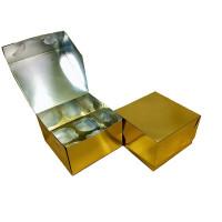 Упаковка c окном на 4 капкейка - Золотая, 16,5*16,5*h11см. (SP CUPO4)