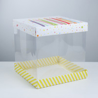 Упаковка для торта «Поздравляю!», 30 × 30 см (3929579)