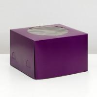 Упаковка для торта   - Фиолетовая, 30*30*h19см.