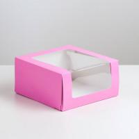 Коробка для торта Мусс, 235*235*115мм., Сиреневый