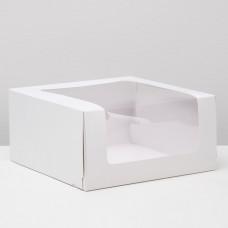Коробка для торта Мусс, 235*235*115мм., Белый