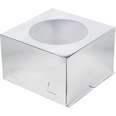 Упаковка для торта   - Серебро, 28*28*h18см.