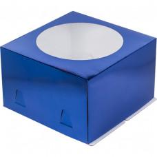 Упаковка для торта   - Синяя, 28*28*h18см.