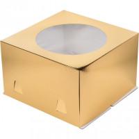 Упаковка для торта   - Золото, 28*28*h18см.