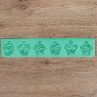 Рельефный силиконовый коврик для создания кружев - Капкейки (2581434)