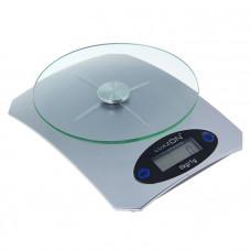 Весы электронные кухонные LuazON LVK-502, до 5 кг, серебро(1147002)