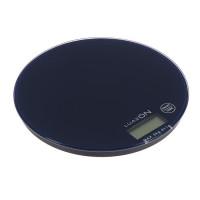 Весы электронные кухонные LuazON LVK-701 до 5 кг, круглые, стекло, темно-синие(3549055)