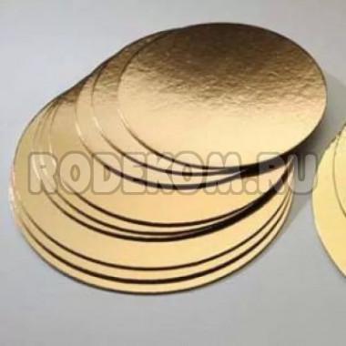Круглая золотая подложка, 24см., 3,5мм. (50шт)