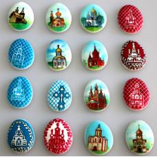 """Сахарные пасхальные яйца """"Храмы"""" (41849)"""