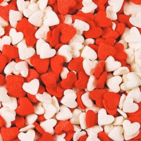 Посыпка кондитерская - Сердечки красные, белые, 50гр. (50/tp16038)