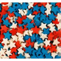 Посыпка кондитерская - Звезды красные, белые, синие, 50гр. (50/tp15796)