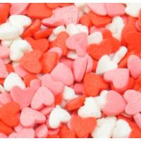 Посыпка кондитерская - Сердечки красные, белые, розовые, 50гр. (50/tp16014)