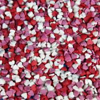 Посыпка кондитерская - Сердечки красные, белые, розовые (мини) 50гр. (50/tp16021)