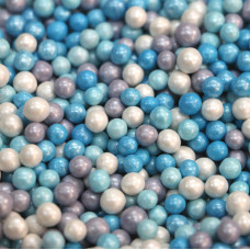 """Сахарные бусинки - """"Голубая лагуна"""", 5мм. 50гр. (50/152038)"""