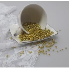 """Сахарные бусинки - """"Золото"""", 50гр. (50/154102)"""