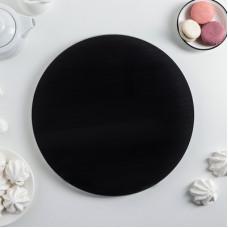 Подставка для торта вращающаяся черная, d=30 см (3105897)